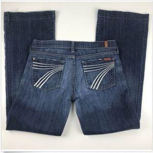 7 For All Mankind Dojo Jeans 29 Flip Flop Flare